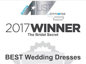 award, black and white, boston a list, 2017 winner, best wedding dresses, the bridal secret