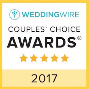 yellow, white and teal award, wedding wire, couples choice awards, 2017