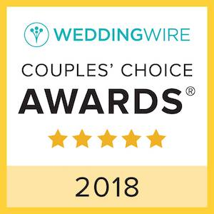 yellow, white and teal award, wedding wire, couples choice awards, 2018