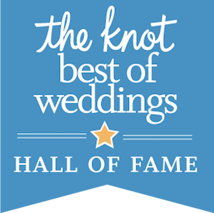 blue knot dot com award, the knot best of weddings hall of fame